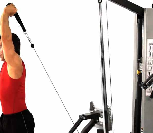 cable overhead triceps